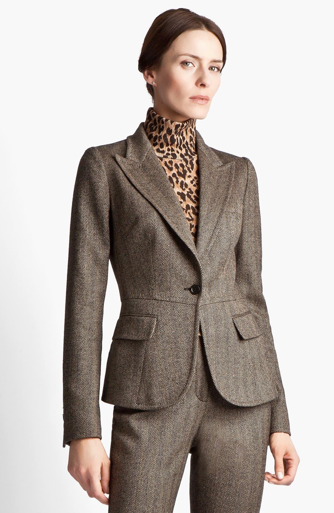 Alternate Image 1 Selected - Dolce&Gabbana Stretch Herringbone Jacket