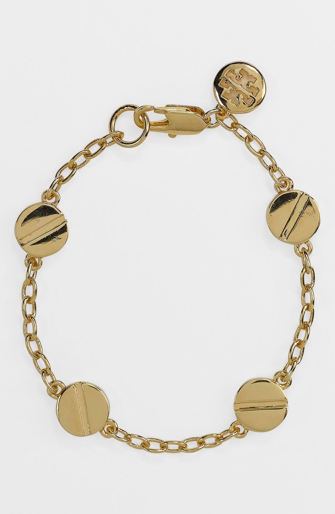 Main Image - Tory Burch 'Screw Rivet' Line Bracelet