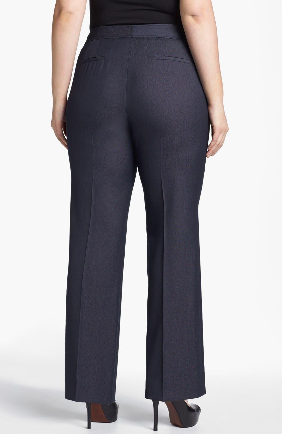 Alternate Image 2  - Sejour 'Polished Indigo' Suit Trousers (Plus Size)