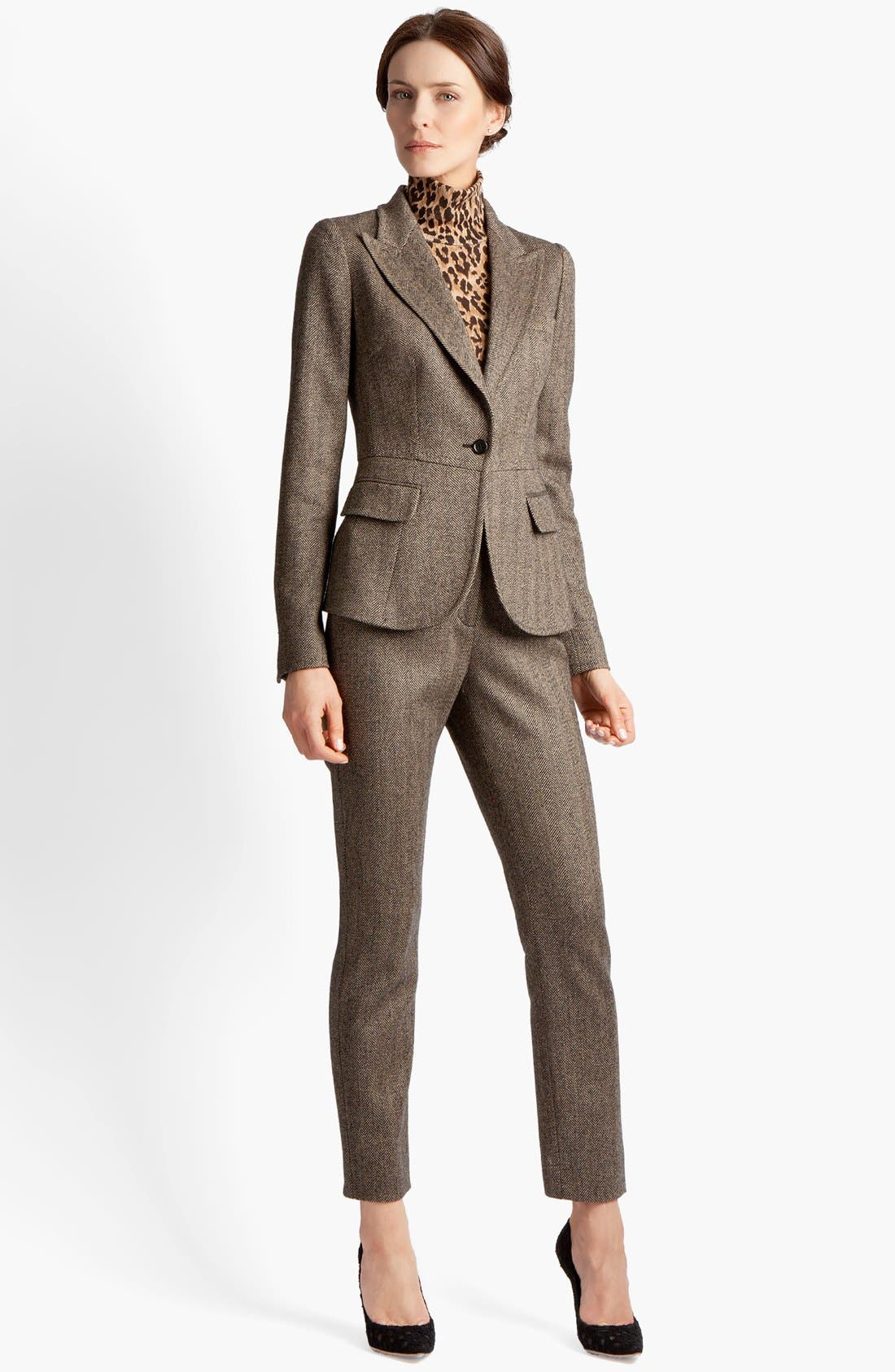 Alternate Image 2  - Dolce&Gabbana Stretch Herringbone Jacket