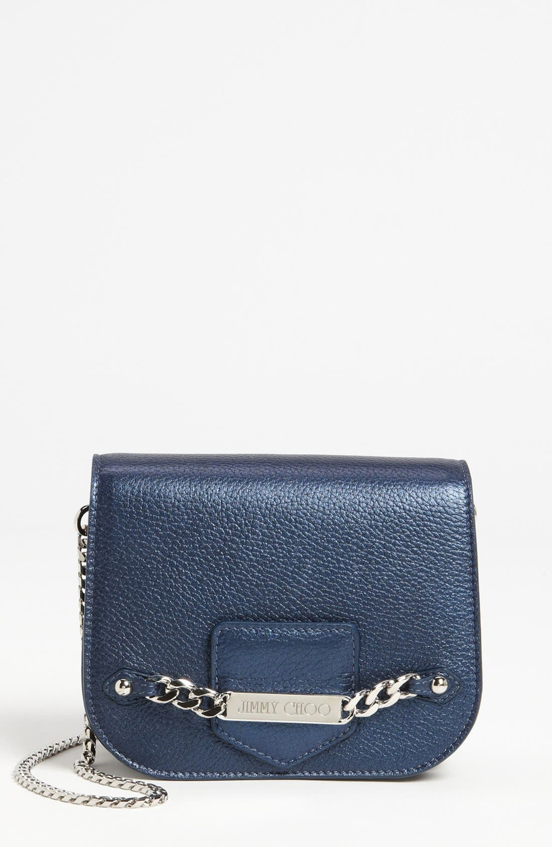 Alternate Image 1 Selected - Jimmy Choo 'Shadow' Pearlized Leather Crossbody Bag