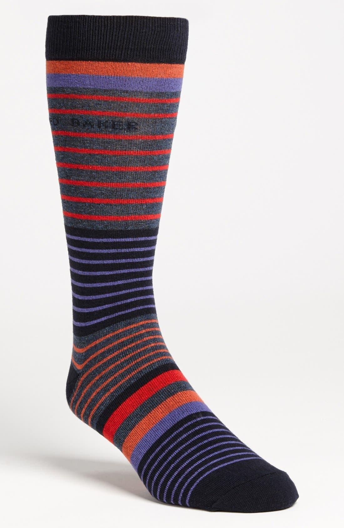 Alternate Image 1 Selected - Ted Baker London Multi Stripe Socks