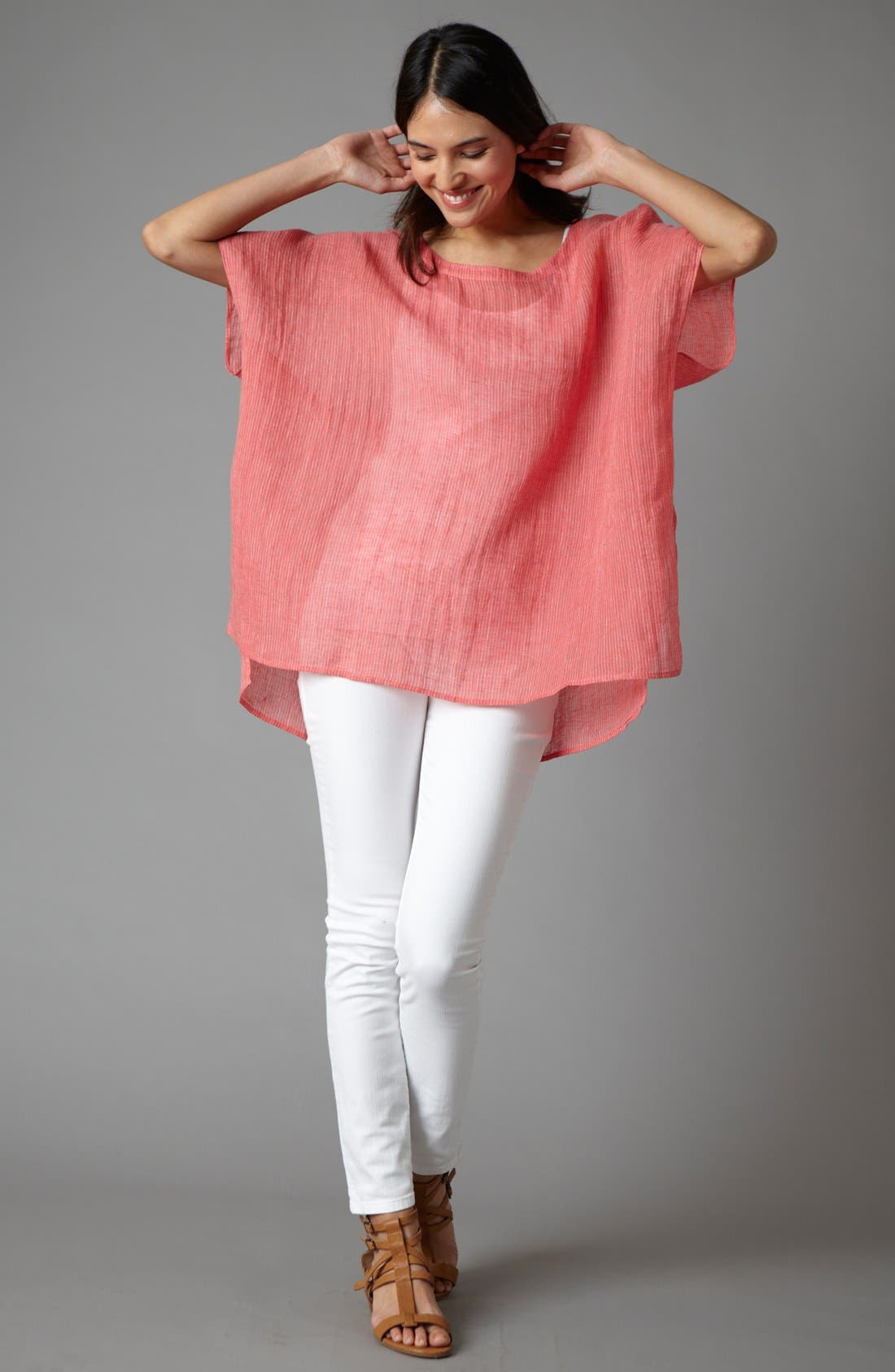 Alternate Image 1 Selected - Eileen Fisher Tunic, Tank & Skinny Jeans