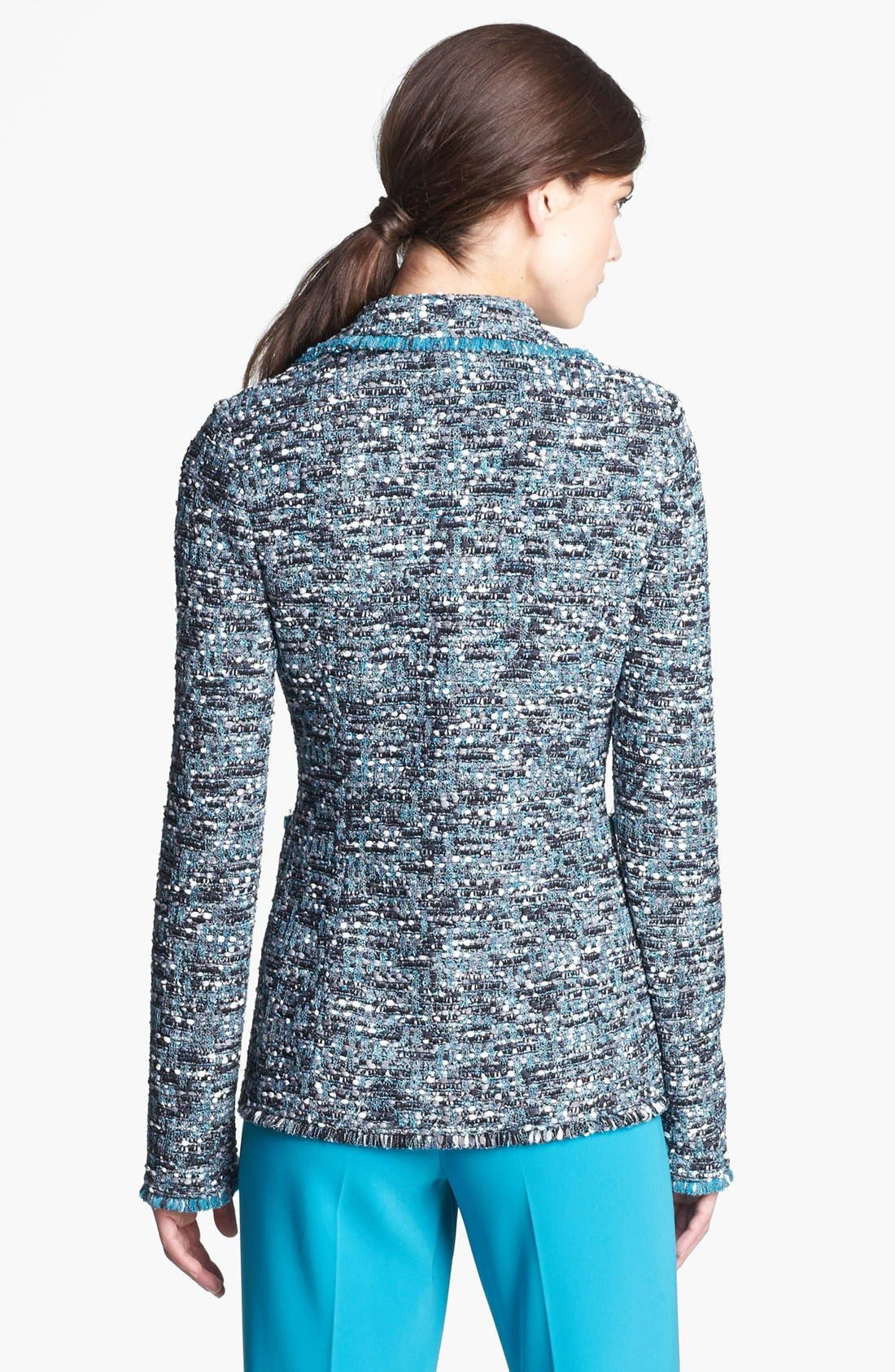 Alternate Image 2  - St. John Collection Ribbon Tweed Knit Jacket