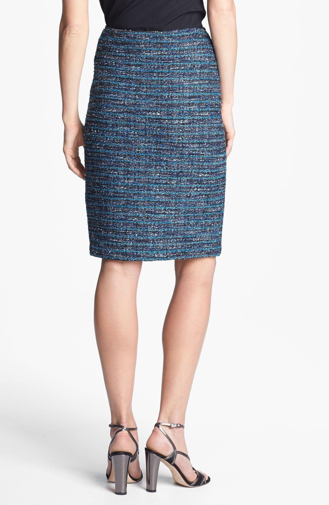 Alternate Image 2  - St. John Collection Organza Ribbon Tweed Pencil Skirt