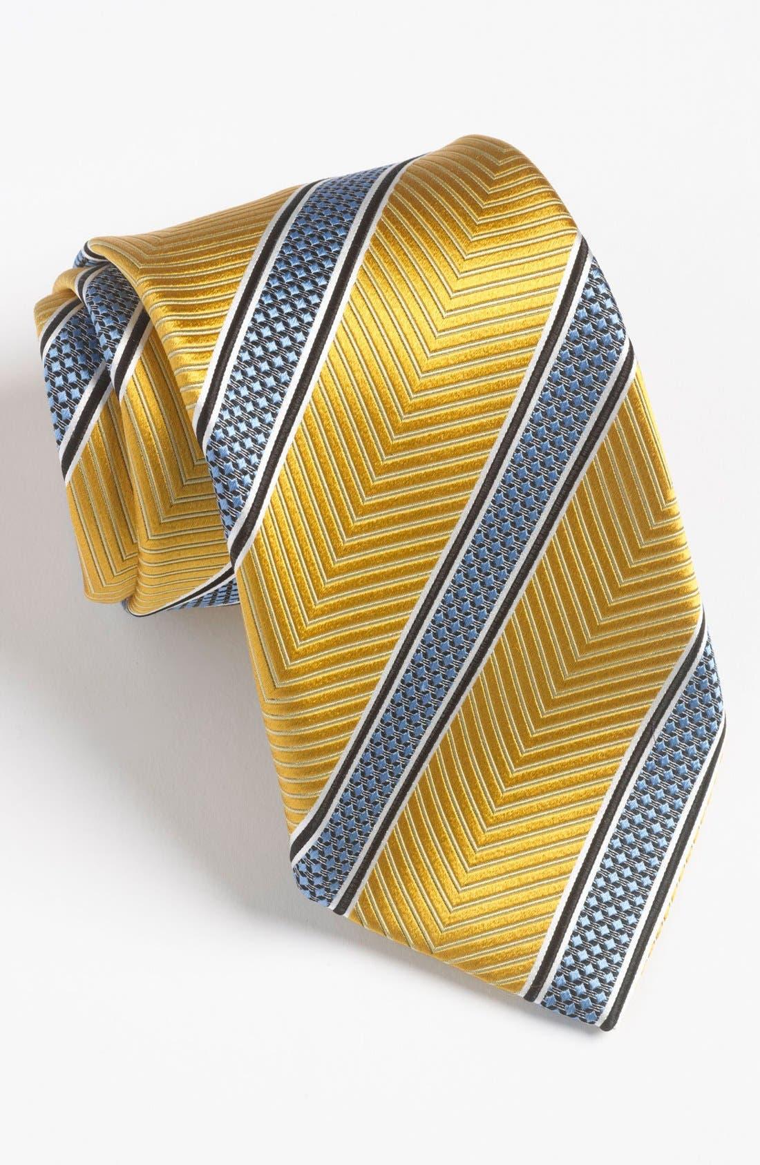 Main Image - Ermenegildo Zegna Woven Silk Blend Tie