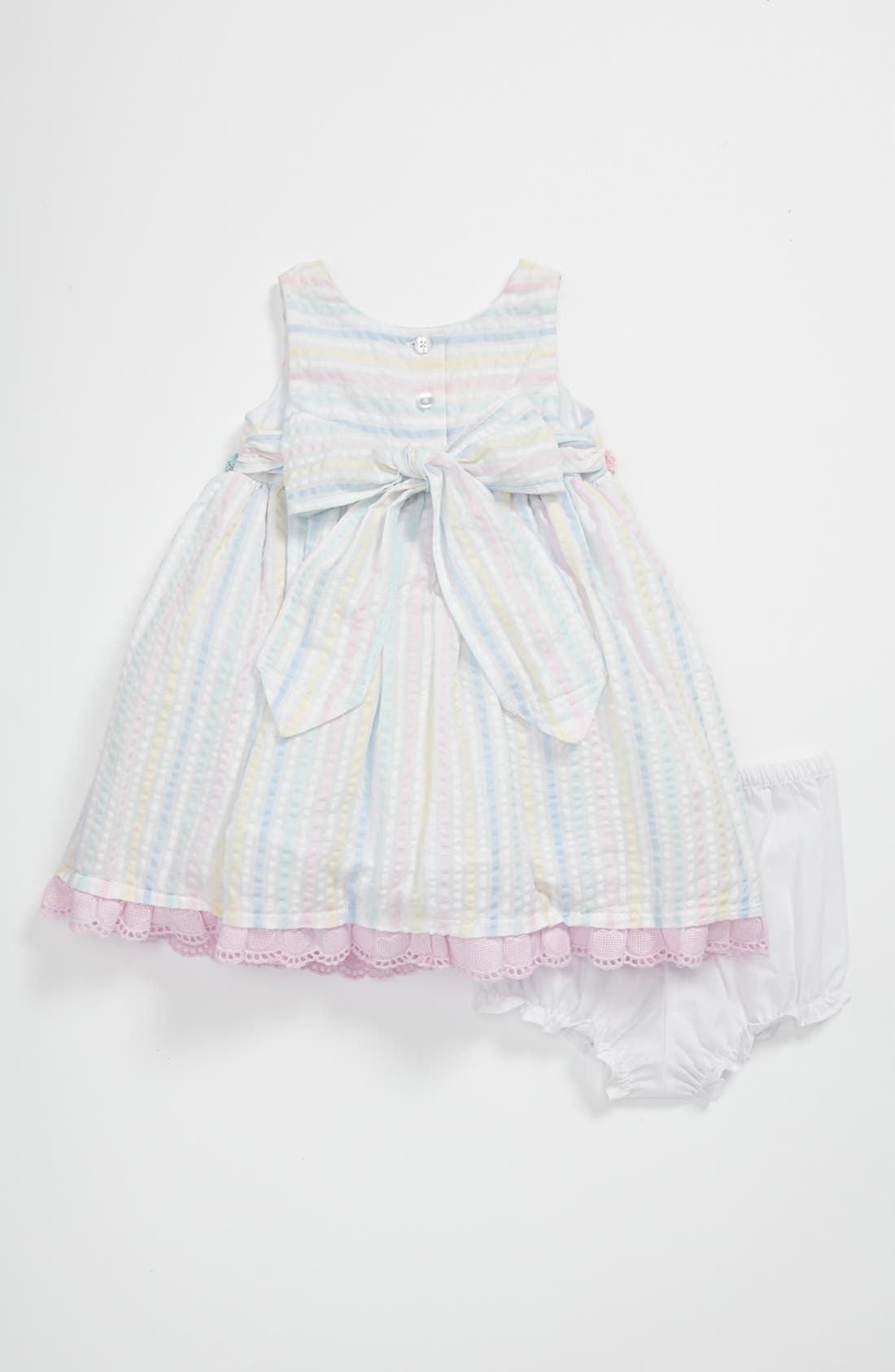 Alternate Image 2  - Pippa & Julie Stripe Dress (Baby)