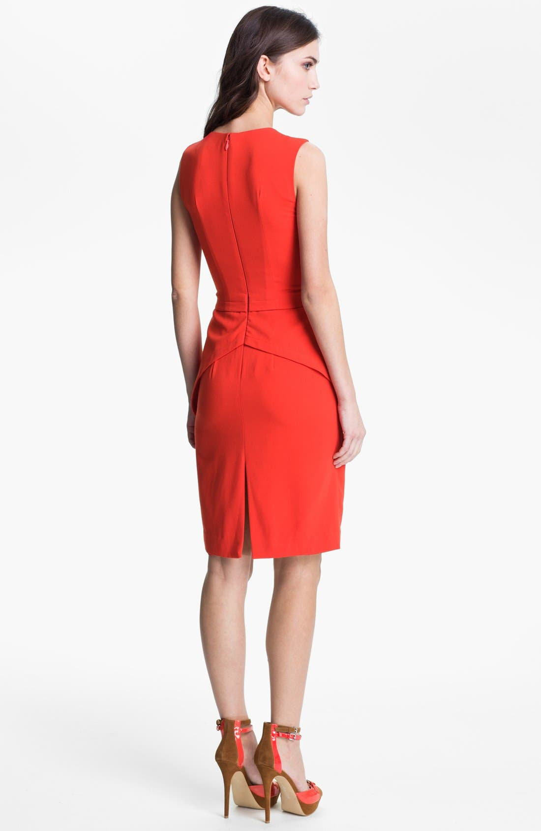 Alternate Image 2  - BCBGMAXAZRIA Seam Detail Sleeveless Sheath (Petite)