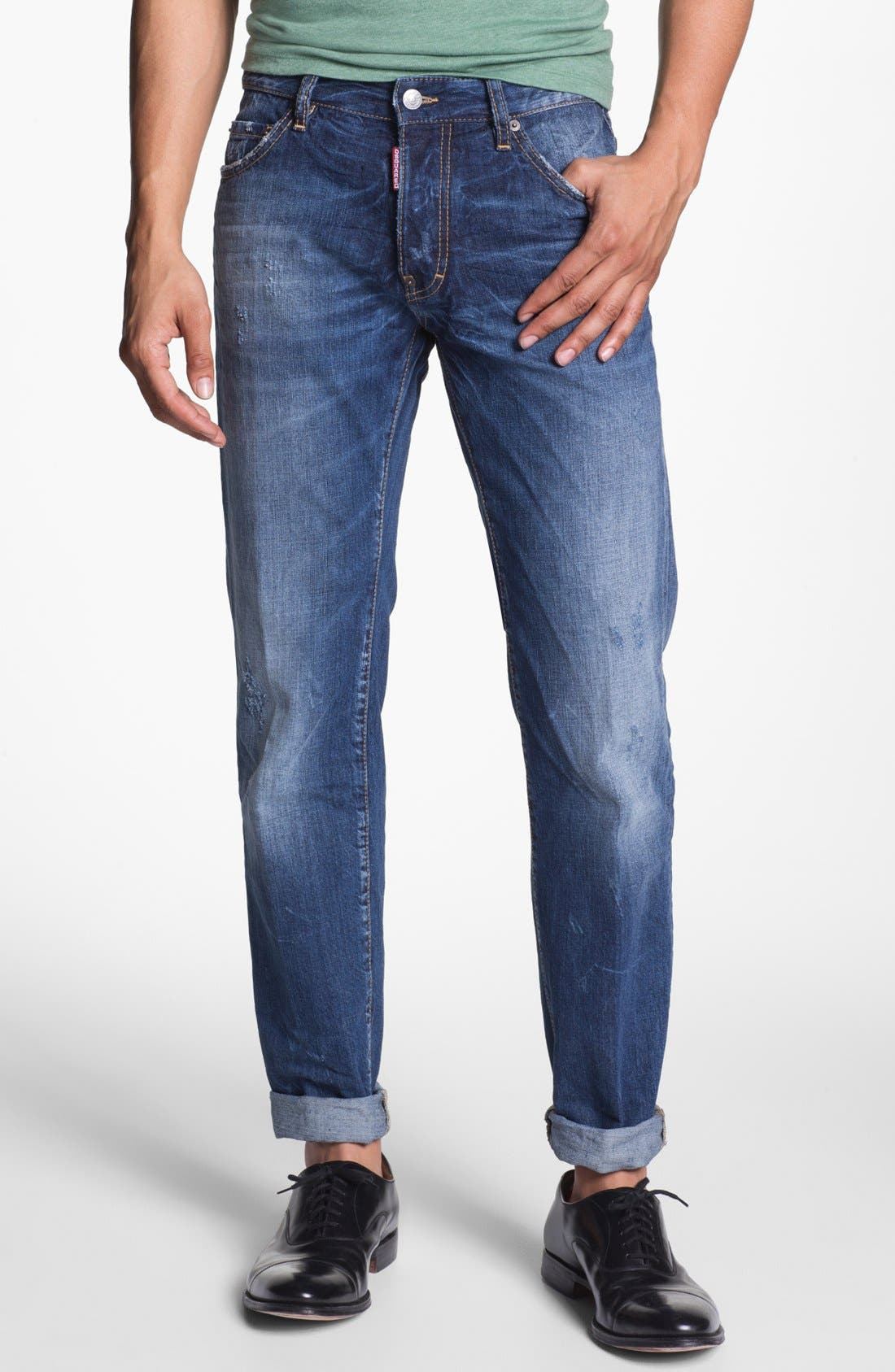 Alternate Image 1 Selected - Dsquared2 'Dean' Straight Leg Jeans