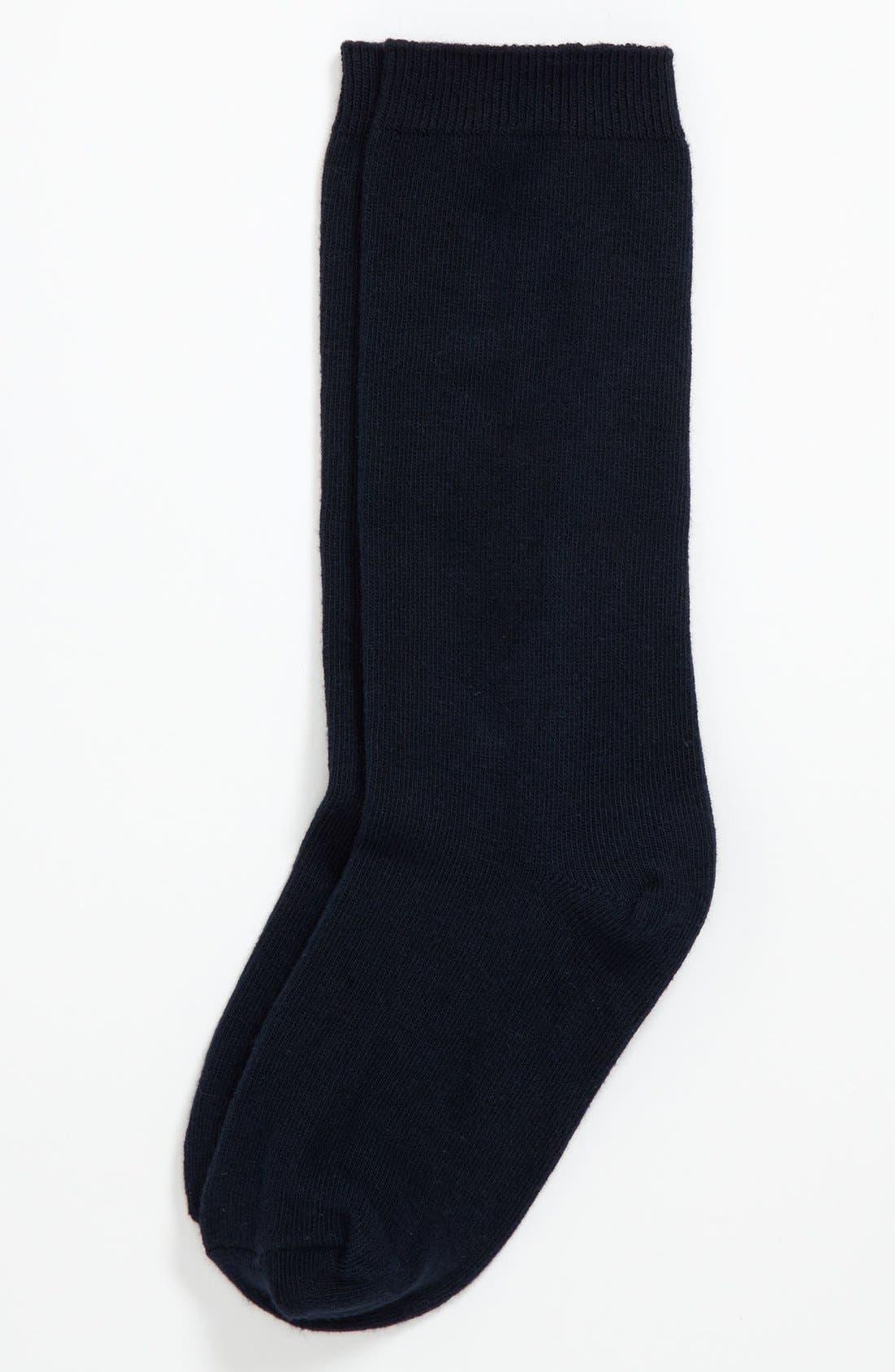 Alternate Image 1 Selected - Nordstrom Knee High Socks (2-Pack) (Little Girls & Big Girls)