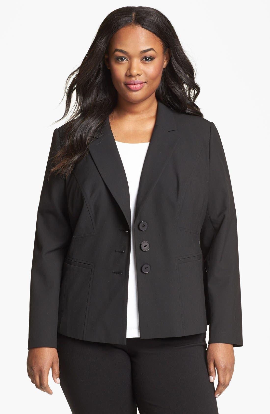 Alternate Image 1 Selected - Sejour 'Ela' Seamed Jacket (Plus Size)