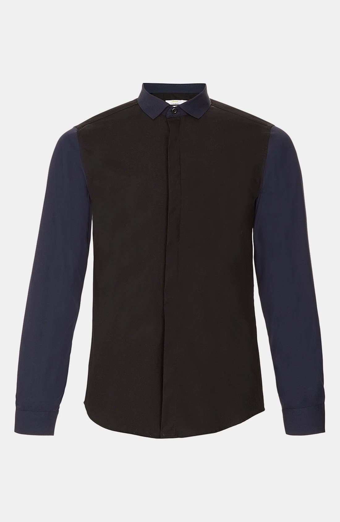 Main Image - Topman 'Smart' Extra Trim Contrast Dress Shirt