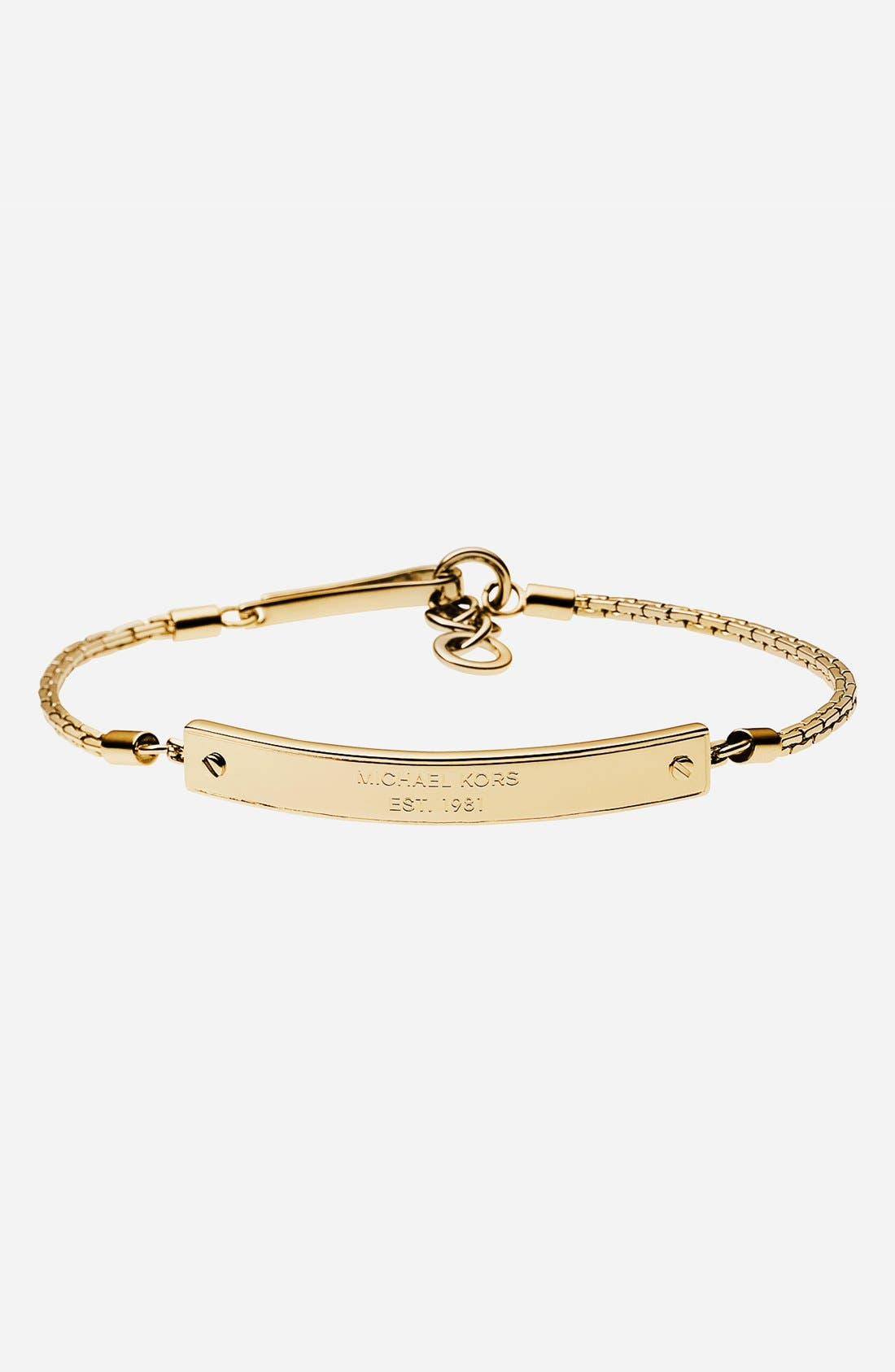 Alternate Image 1 Selected - Michael Kors Logo Plate ID Bracelet