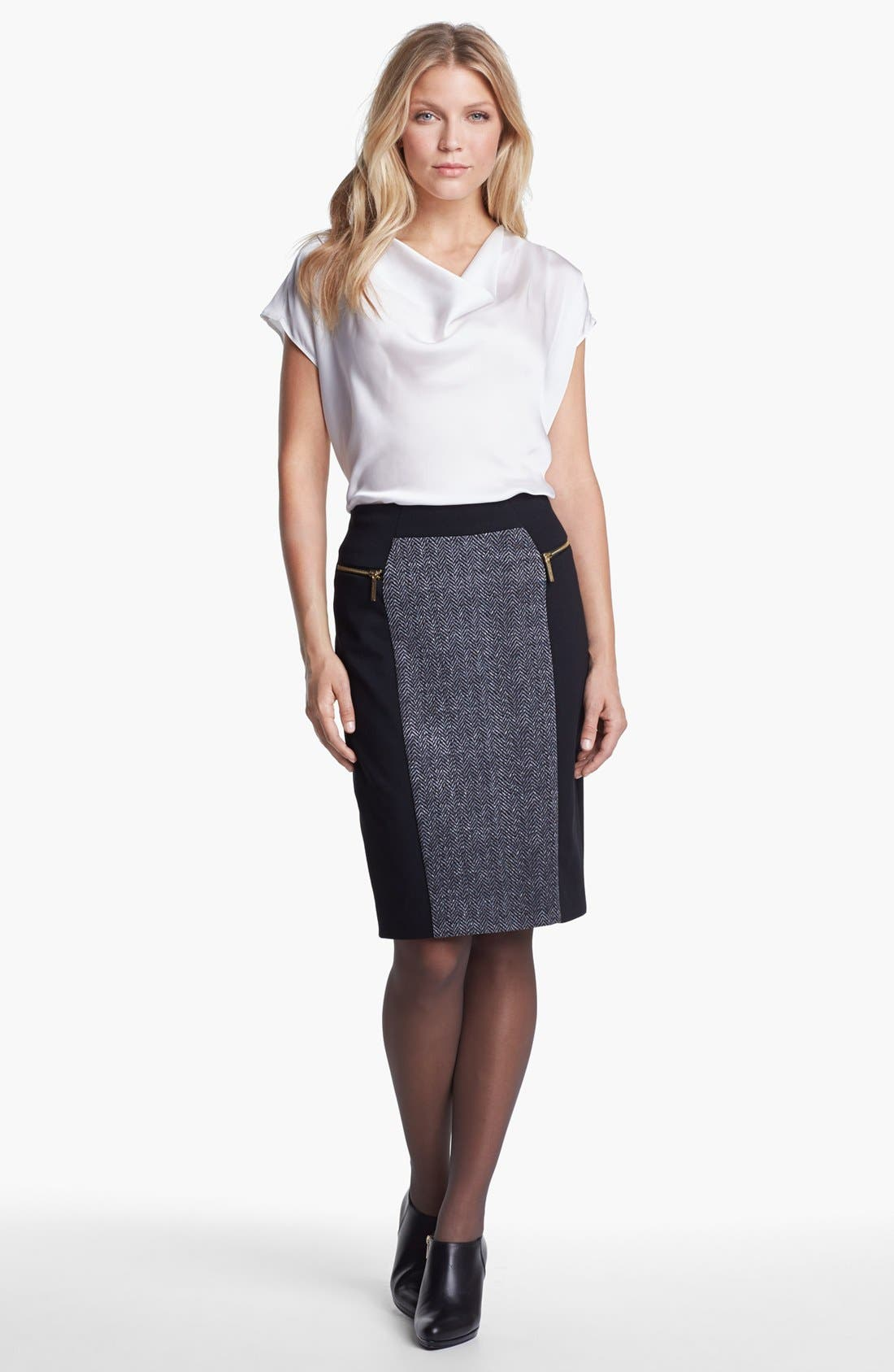 Alternate Image 2  - MICHAEL Michael Kors Colorblock Ponte Skirt