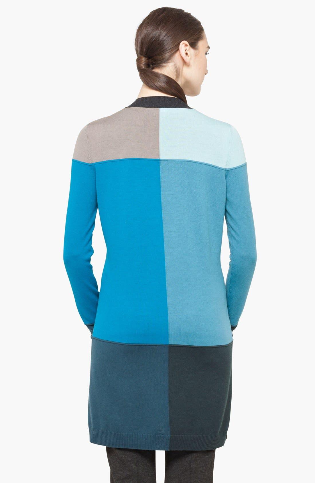 Alternate Image 2  - Akris punto Intarsia Knit Wool Cardigan