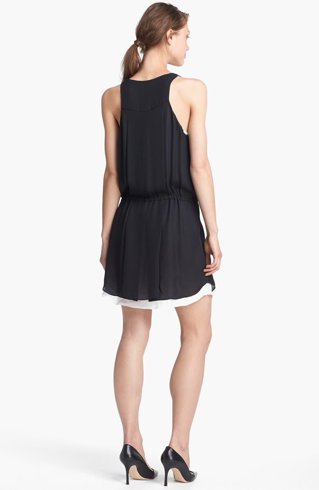 Alternate Image 2  - A.L.C. 'Solange' Two Tone Dress