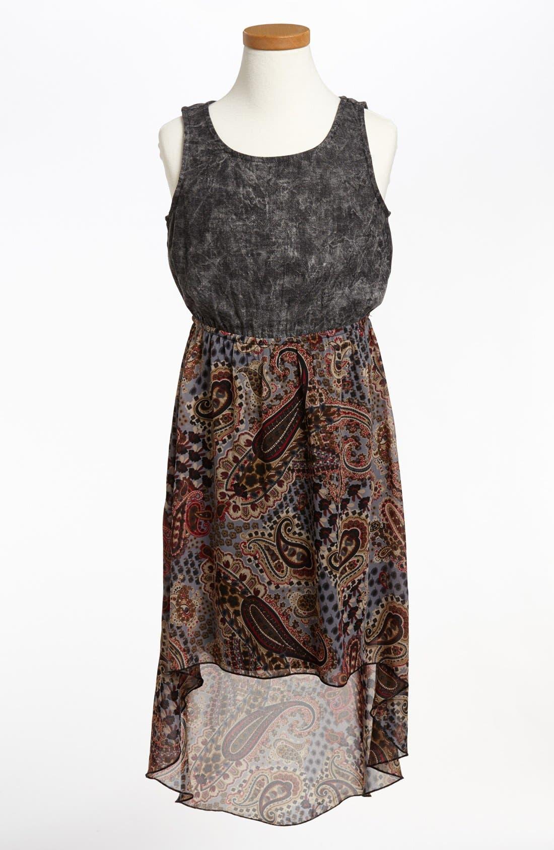Alternate Image 1 Selected - Mia Chica Paisley Dress (Big Girls)