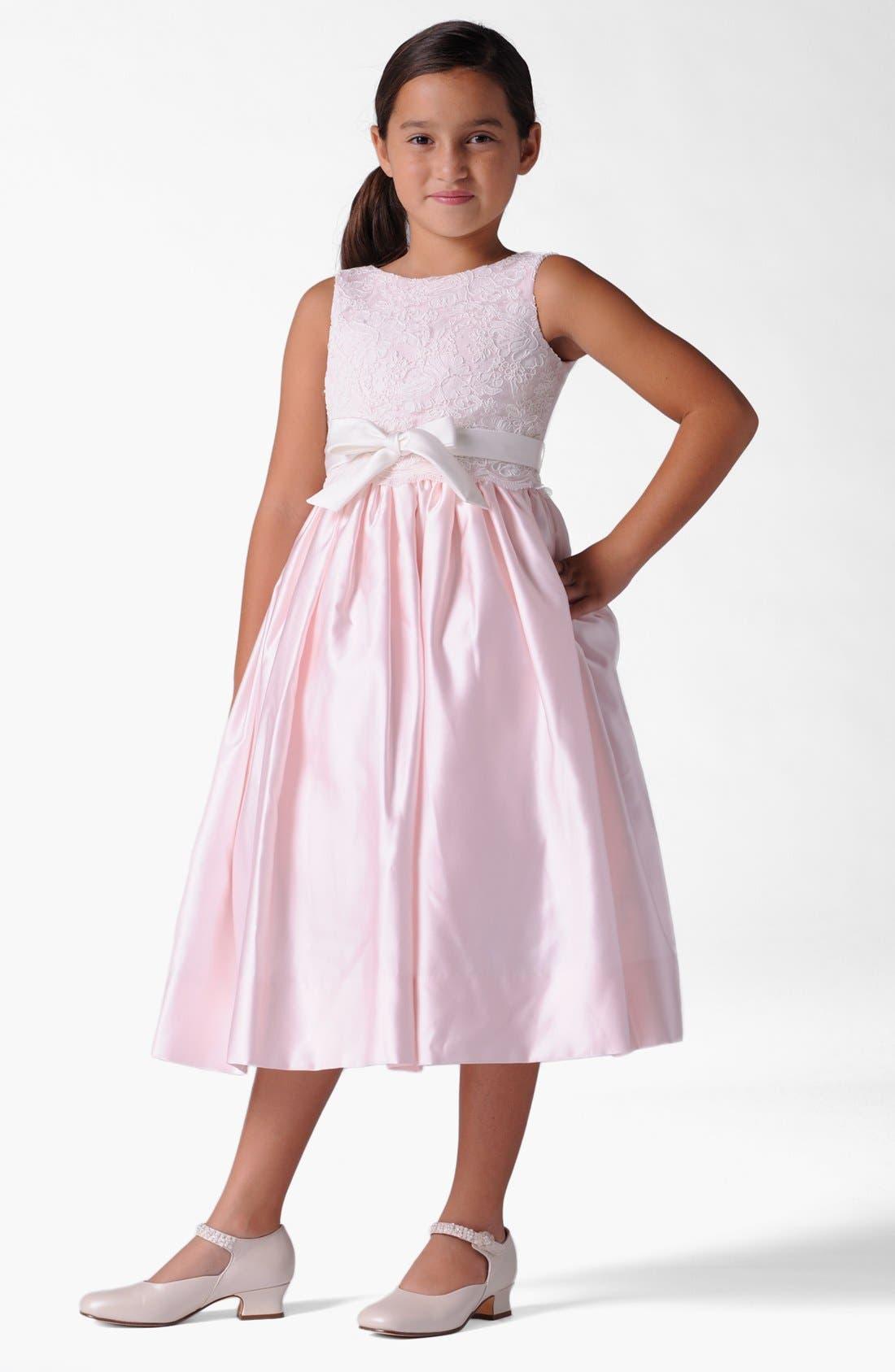 Alternate Image 1 Selected - Us Angels Lace Dress (Infant, Toddler, Little Girls & Big Girls)