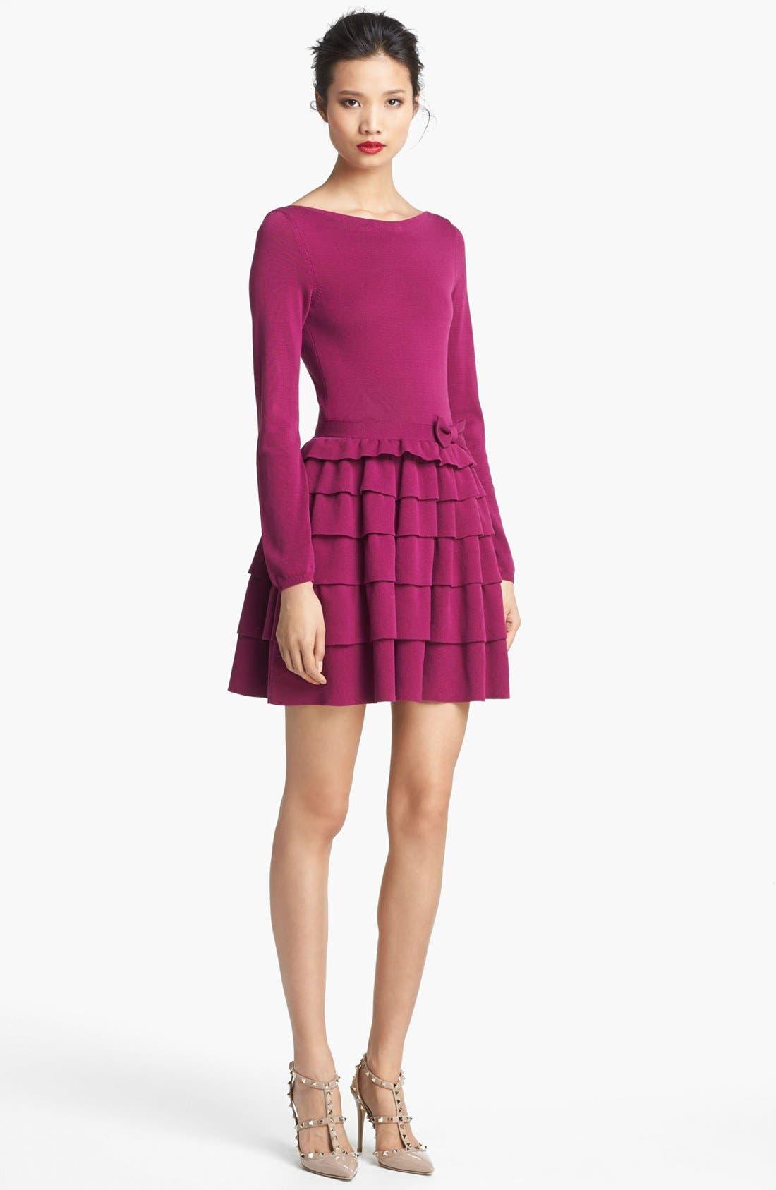 Alternate Image 1 Selected - RED Valentino Ruffle Skirt Dress