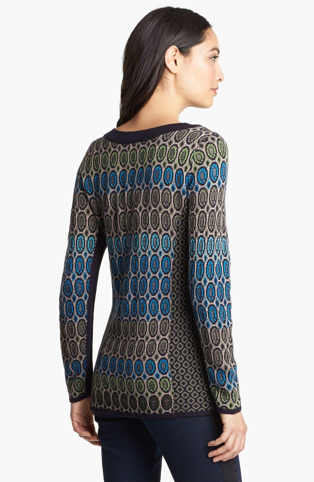 Alternate Image 3  - Nic + Zoe 'Geo Jacquard' Sweater