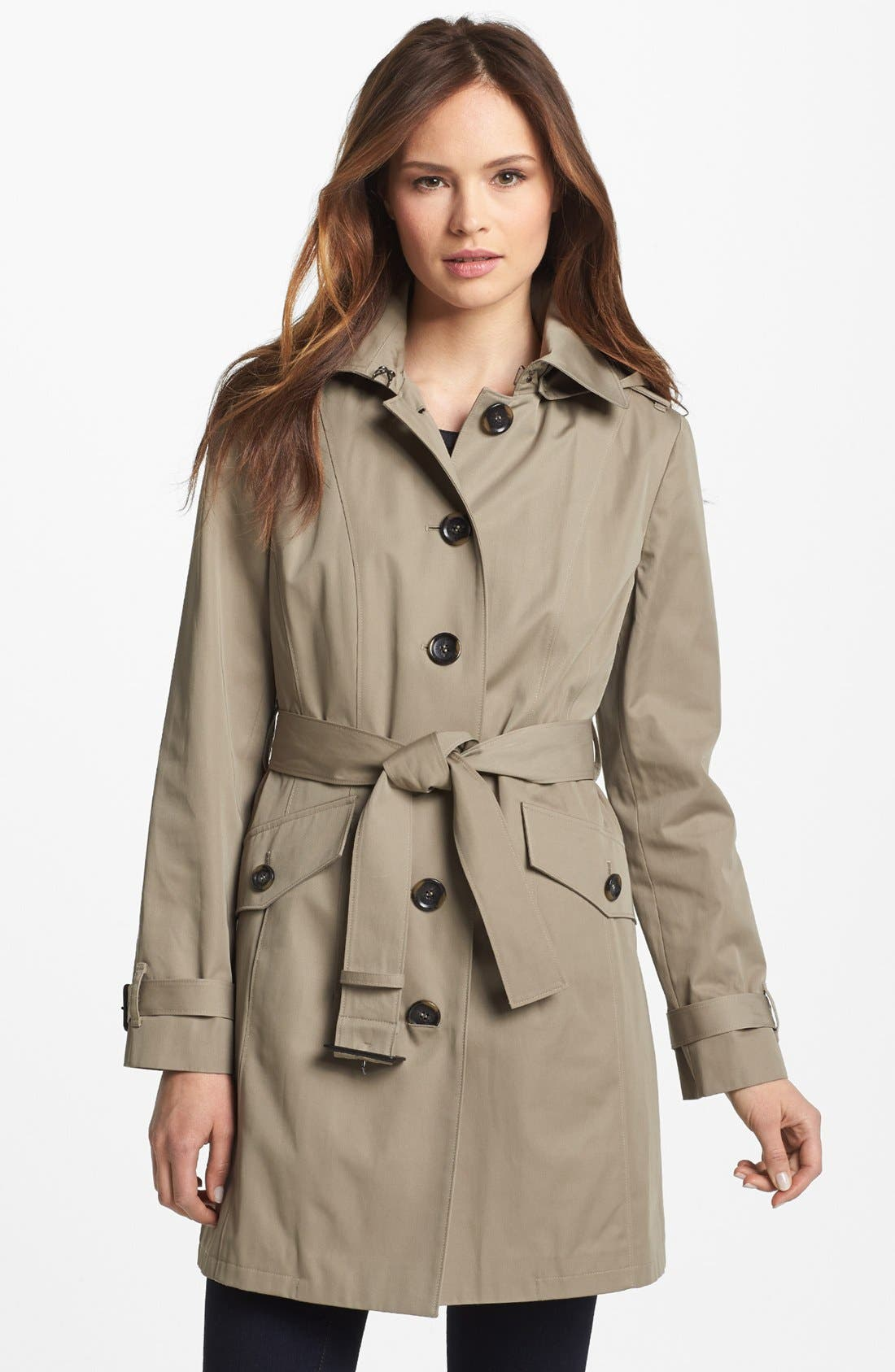 Main Image - MICHAEL Michael Kors Trench Coat with Detachable Hood (Nordstrom Exclusive)