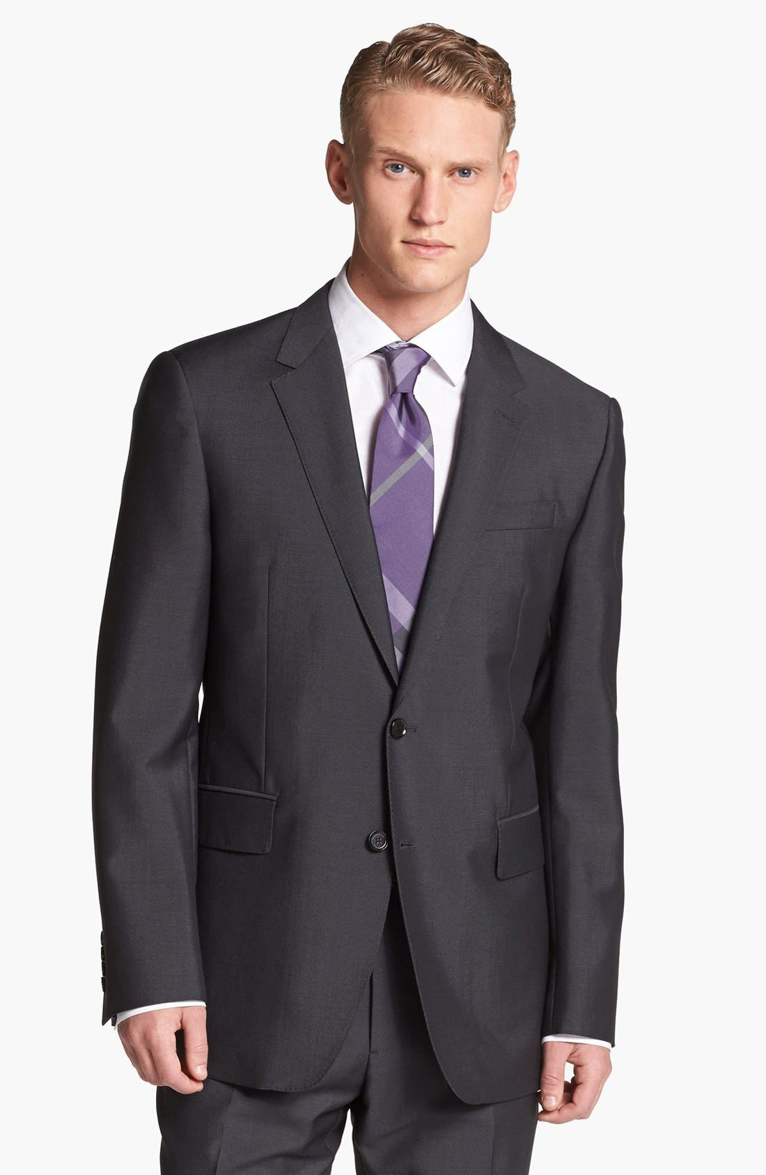 Alternate Image 4  - Burberry London Trim Fit Charcoal Wool & Mohair Suit