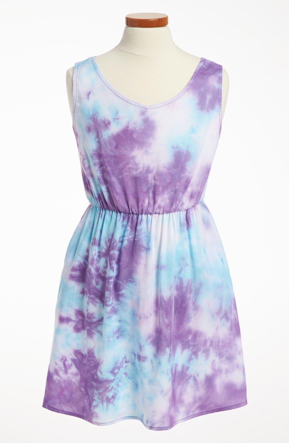 Main Image - Mia Chica Two Tone Dress (Big Girls)