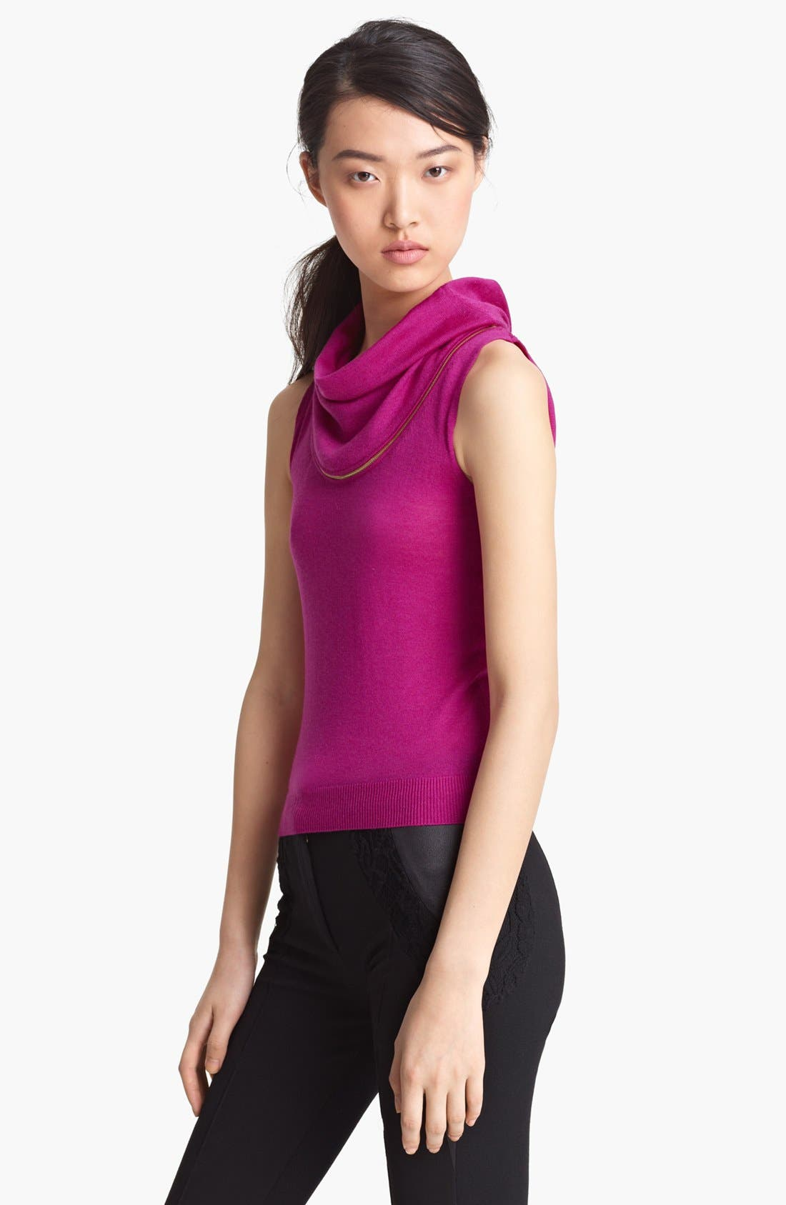Main Image - Nina Ricci Zipper Cowl Neck Wool Sweater