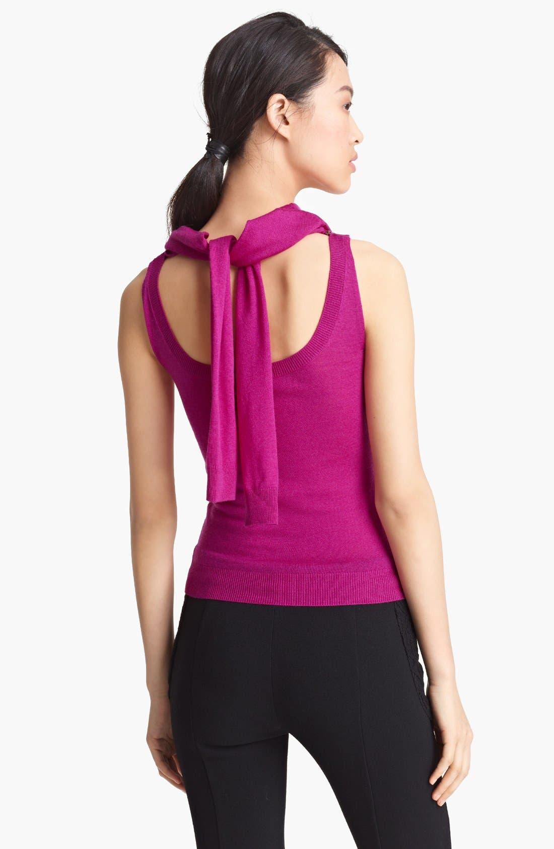 Alternate Image 2  - Nina Ricci Zipper Cowl Neck Wool Sweater