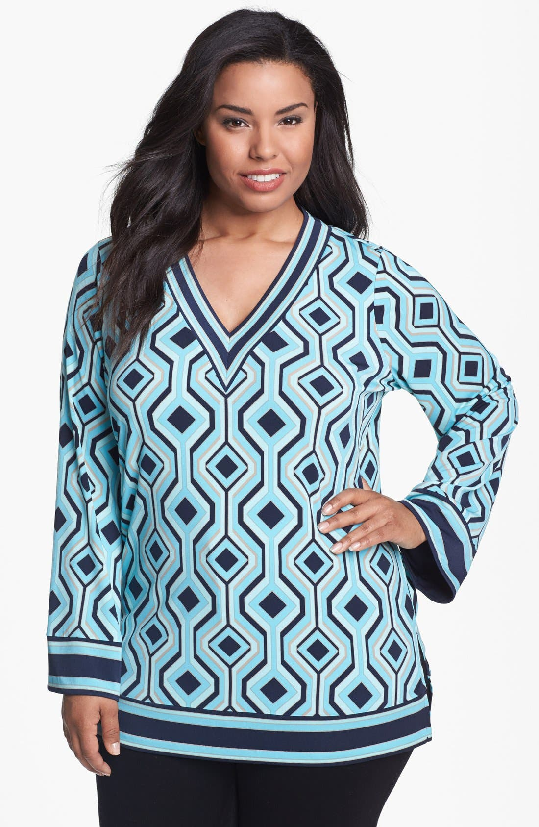 Alternate Image 1 Selected - MICHAEL Michael Kors Print Tunic (Plus Size)