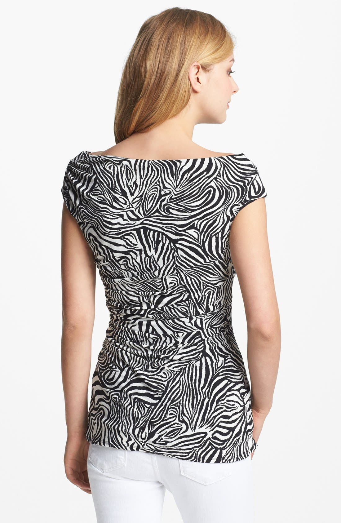 Alternate Image 2  - Vince Camuto Zebra Ruched Top
