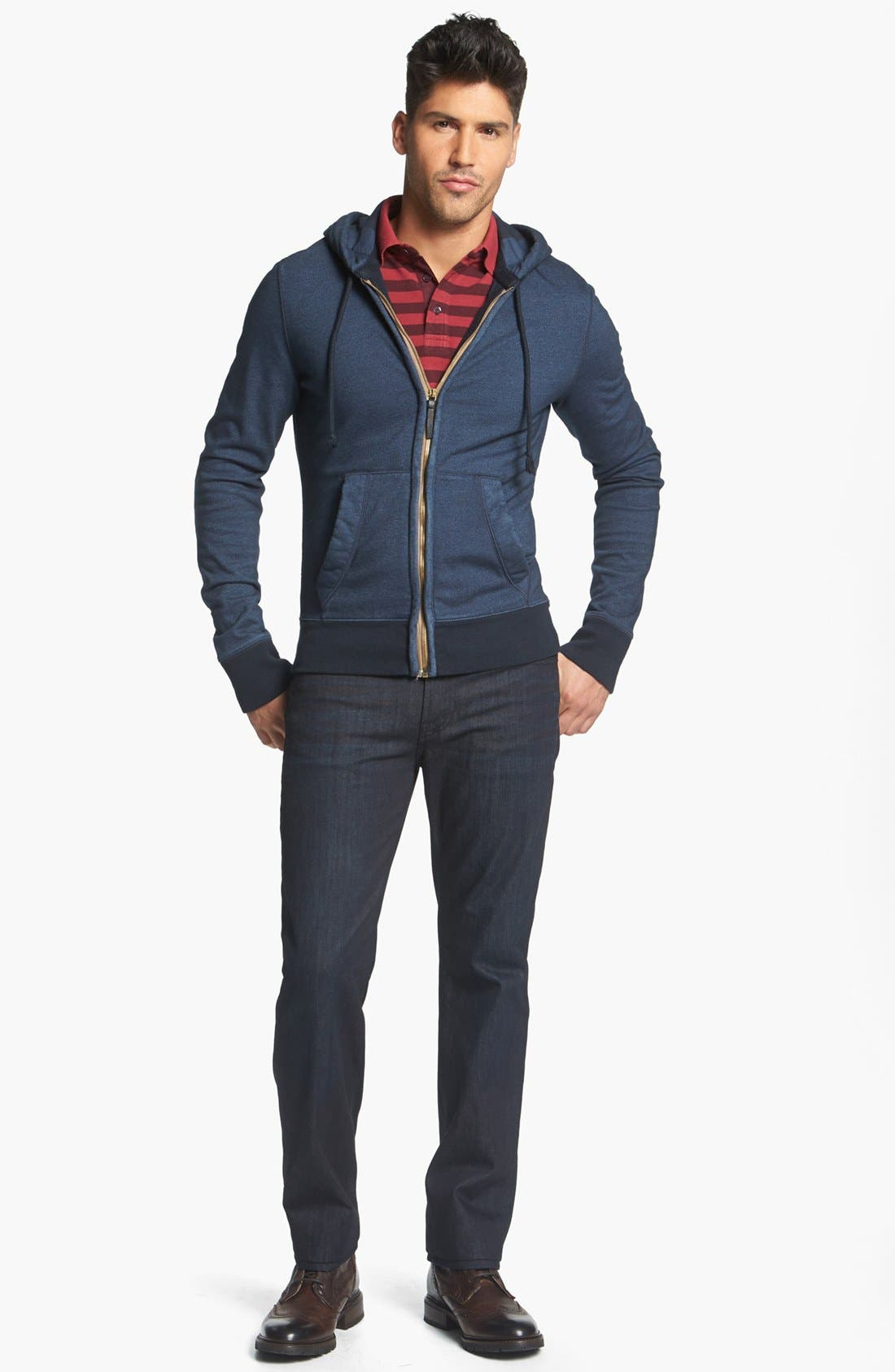 Main Image - Burberry Brit Hoodie, Polo & 7 For All Mankind® Jeans