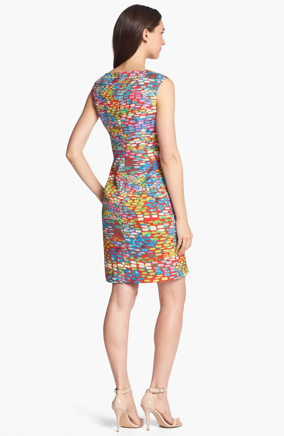 Alternate Image 2  - Ellen Tracy Cap Sleeve Print Sheath Dress