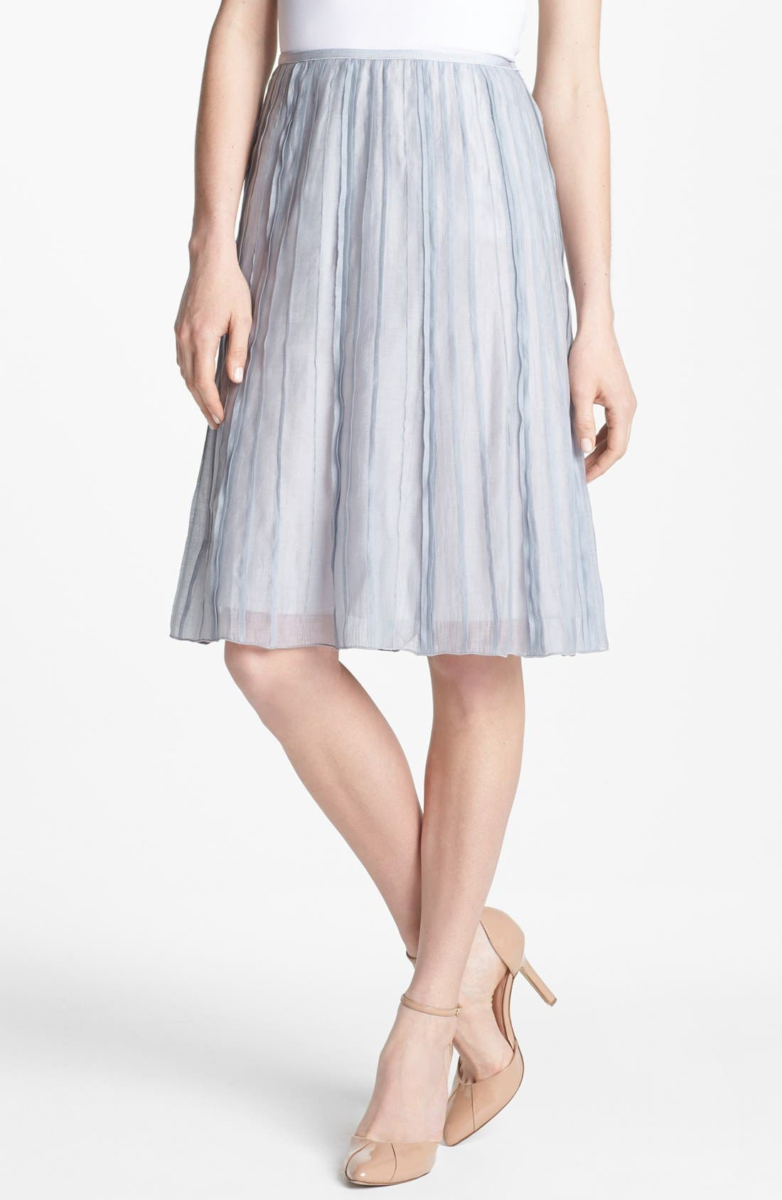 Alternate Image 1 Selected - Nic + Zoe 'Batiste' Flared Skirt (Petite)