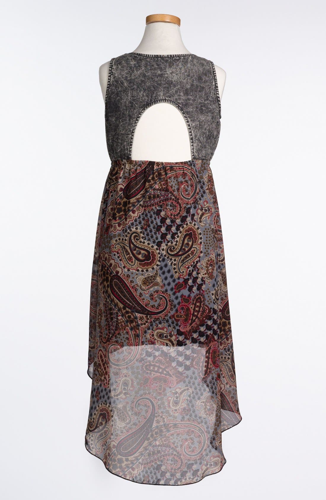 Alternate Image 2  - Mia Chica Paisley Dress (Big Girls)