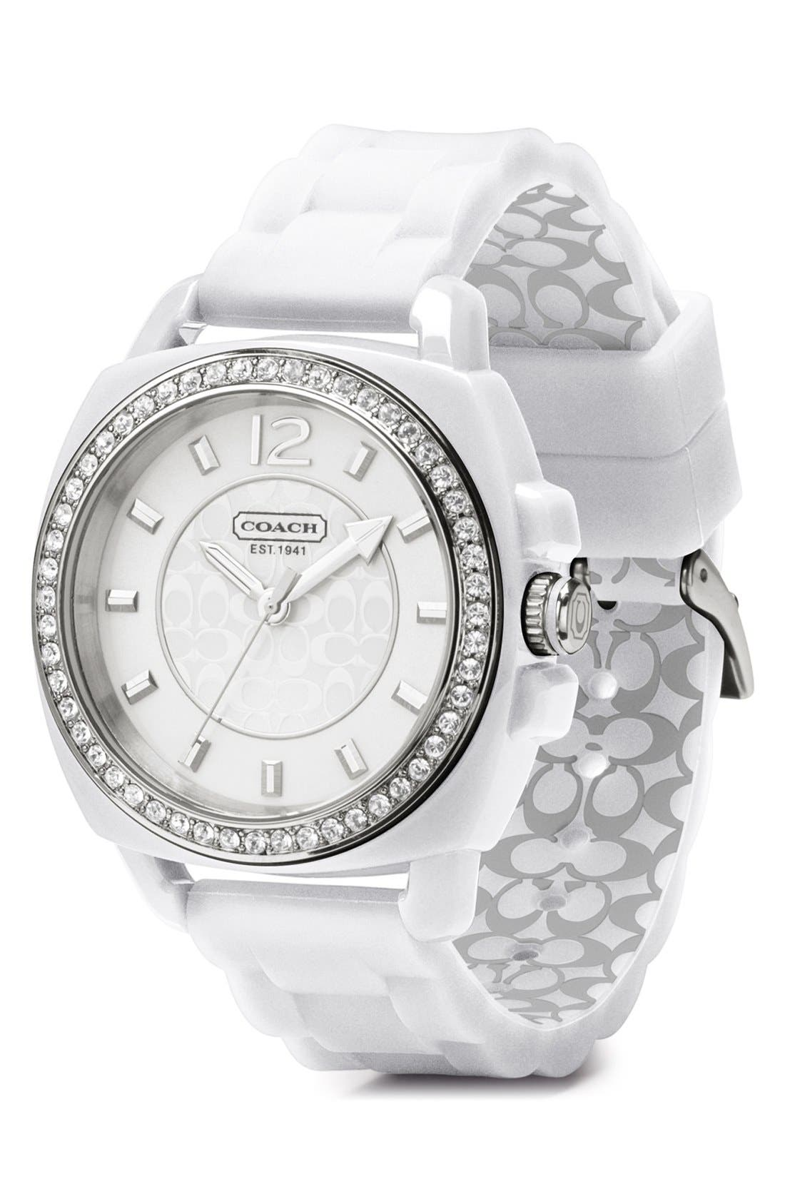 Alternate Image 2  - COACH 'Boyfriend' Crystal Bezel Watch, 39mm