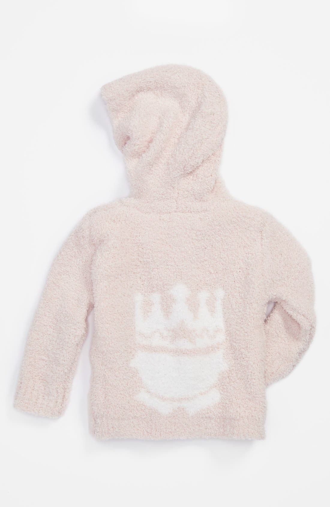Alternate Image 1 Selected - Barefoot Dreams® 'Little Royals' CozyChic® Hoodie (Baby Girls)