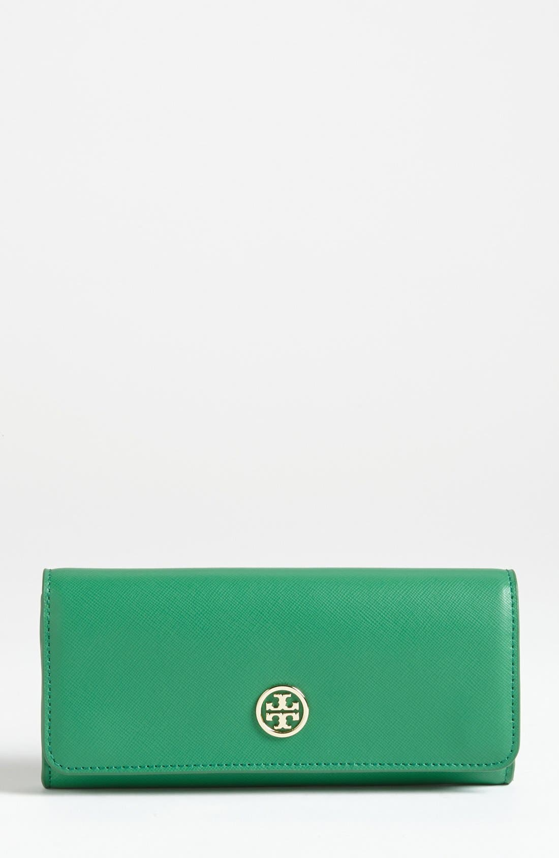 Main Image - Tory Burch 'Robinson' Saffiano Leather Wallet