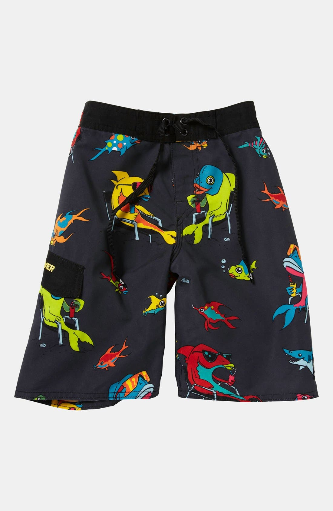 Main Image - Quiksilver 'Fish Tacoz' Board Shorts (Little Boys)