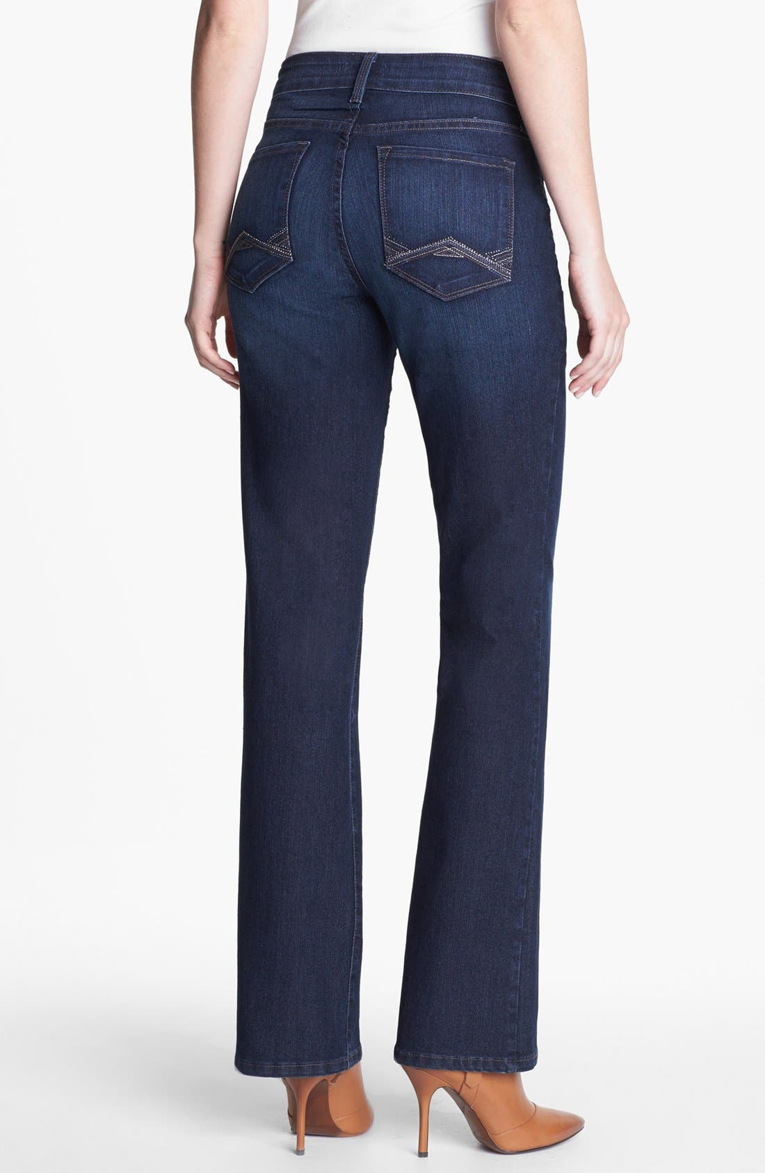 Alternate Image 2  - NYDJ 'Barbara' Embellished Stretch Bootcut Jeans (Online Only)