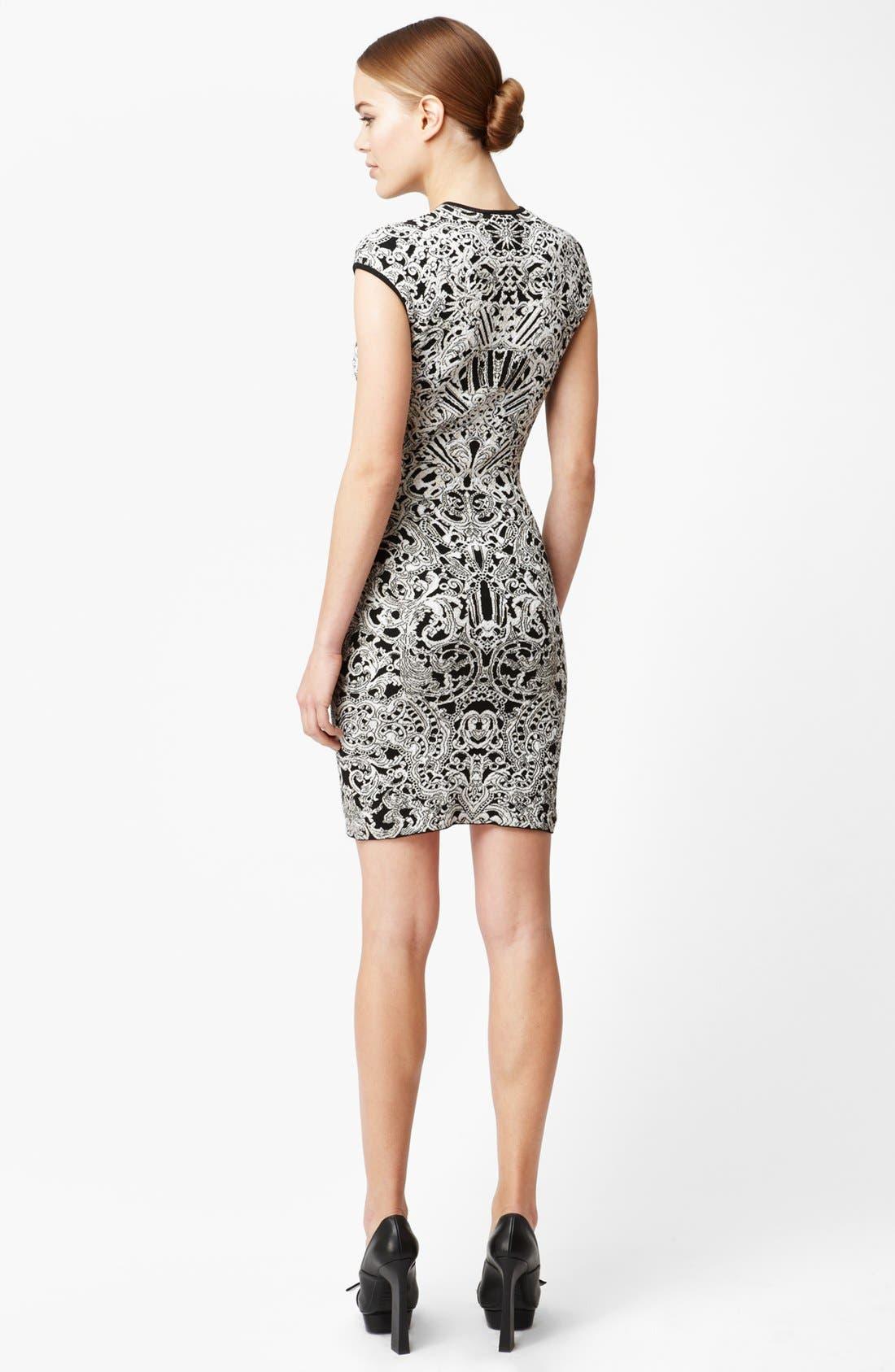 Alternate Image 2  - Alexander McQueen Intarsia Knit Dress