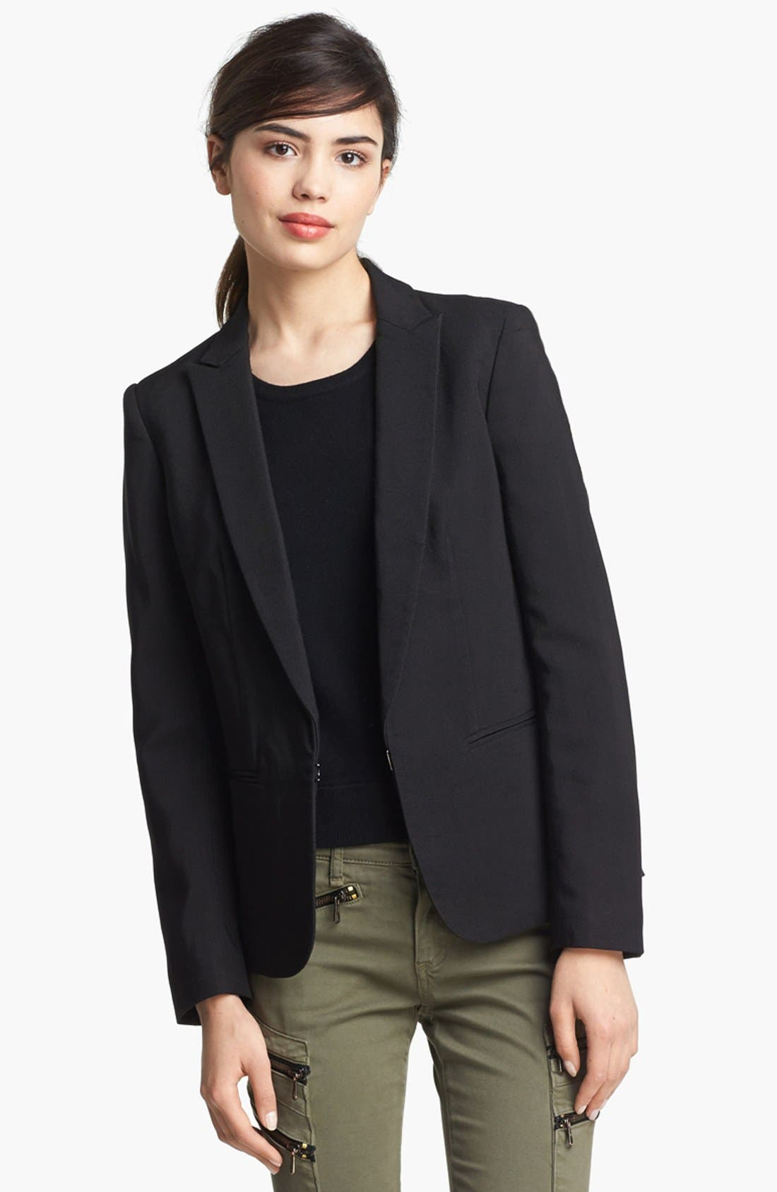 Main Image - rag & bone 'Lillian' Lace-Up Back Blazer