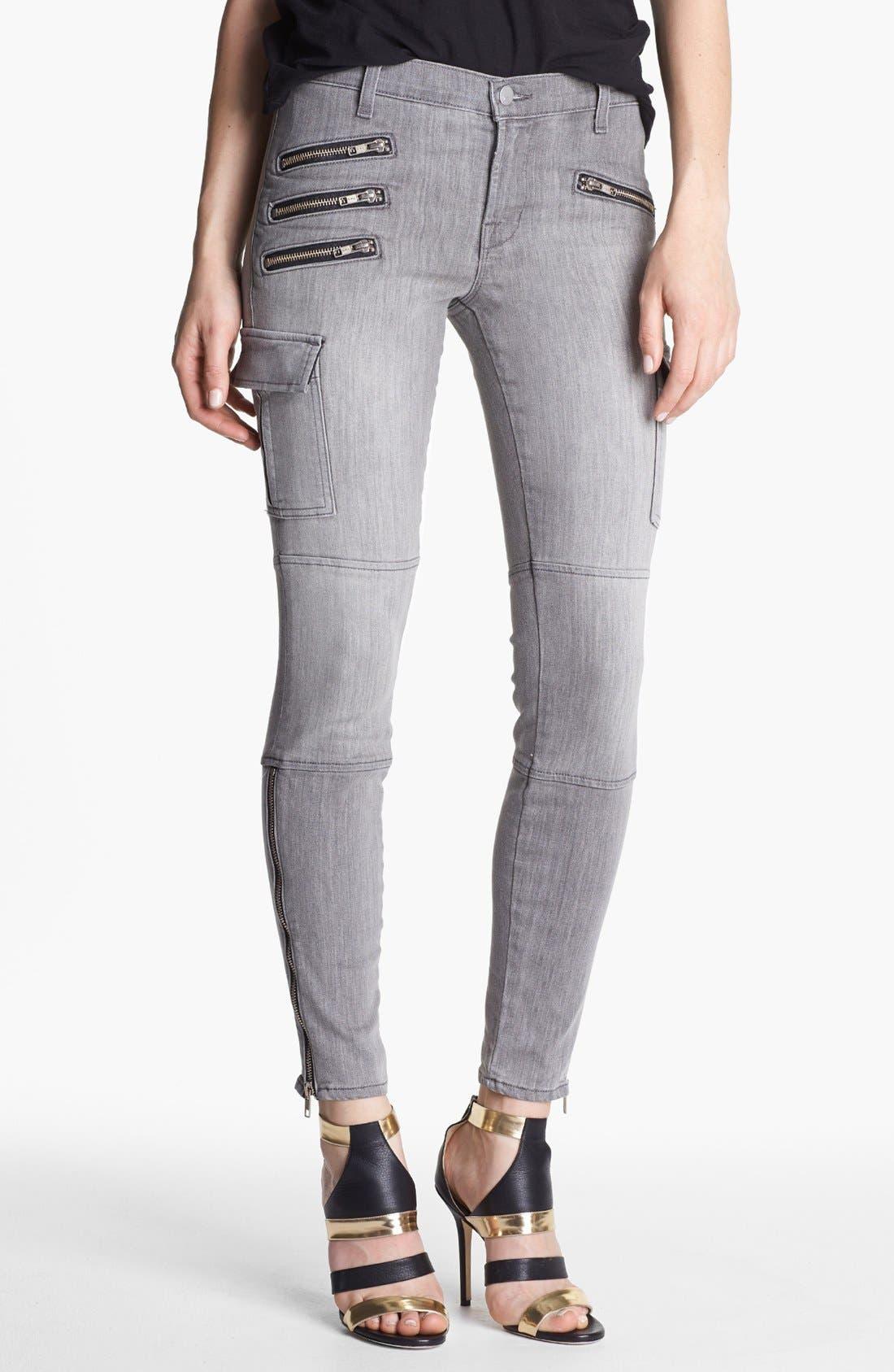 Main Image - J Brand 'The Brix' Moto Skinny Pants (Lunar)