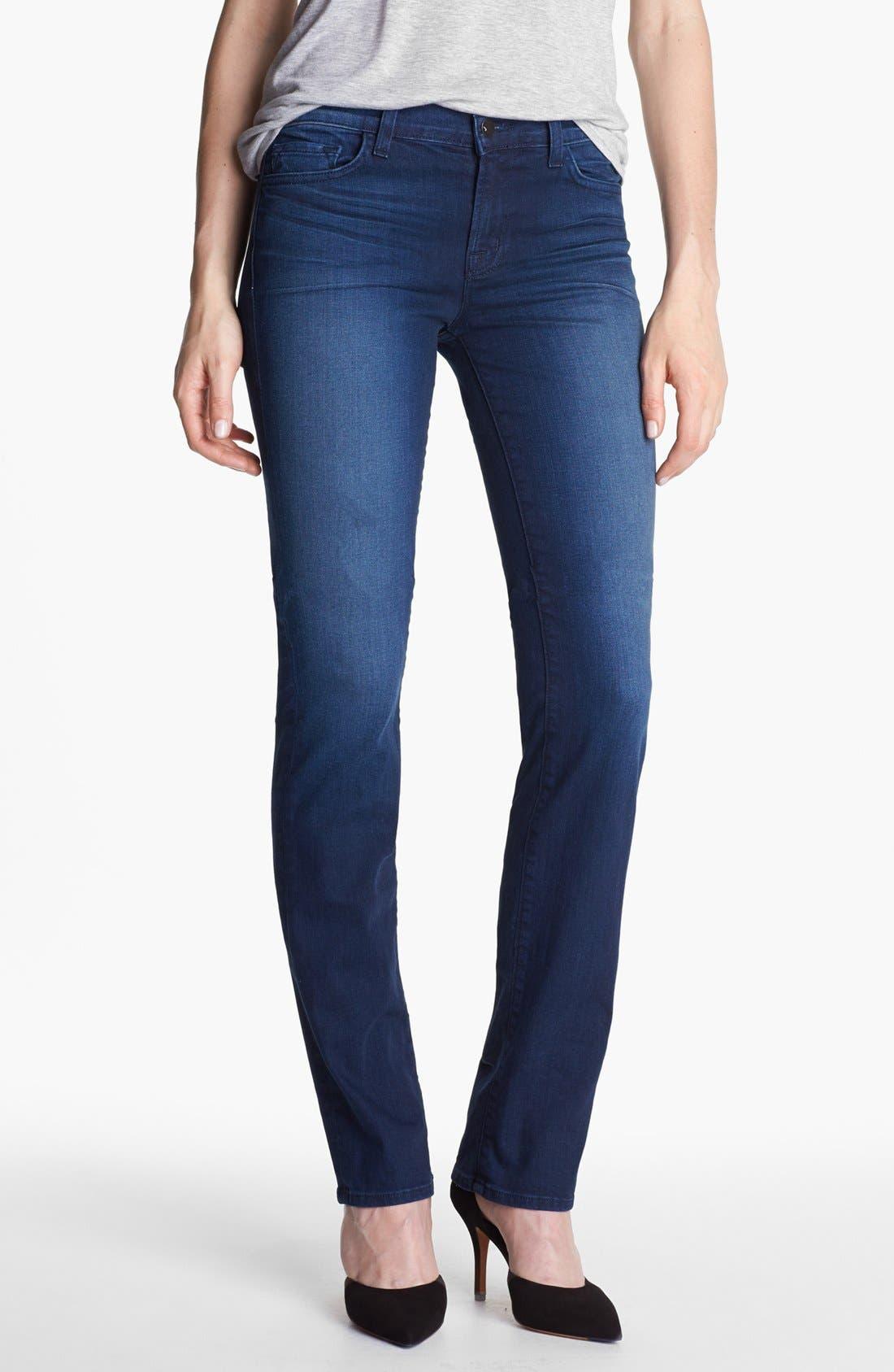 Main Image - J Brand '814' Mid-Rise Cigarette Leg Jeans (Avalon)