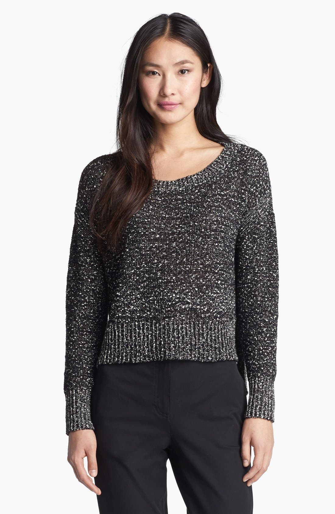 Main Image - Eileen Fisher Wrapped Cotton Nubble Sweater
