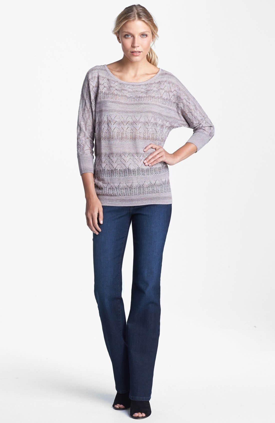 Alternate Image 4  - NYDJ 'Barbara' Embellished Stretch Bootcut Jeans (Online Only)