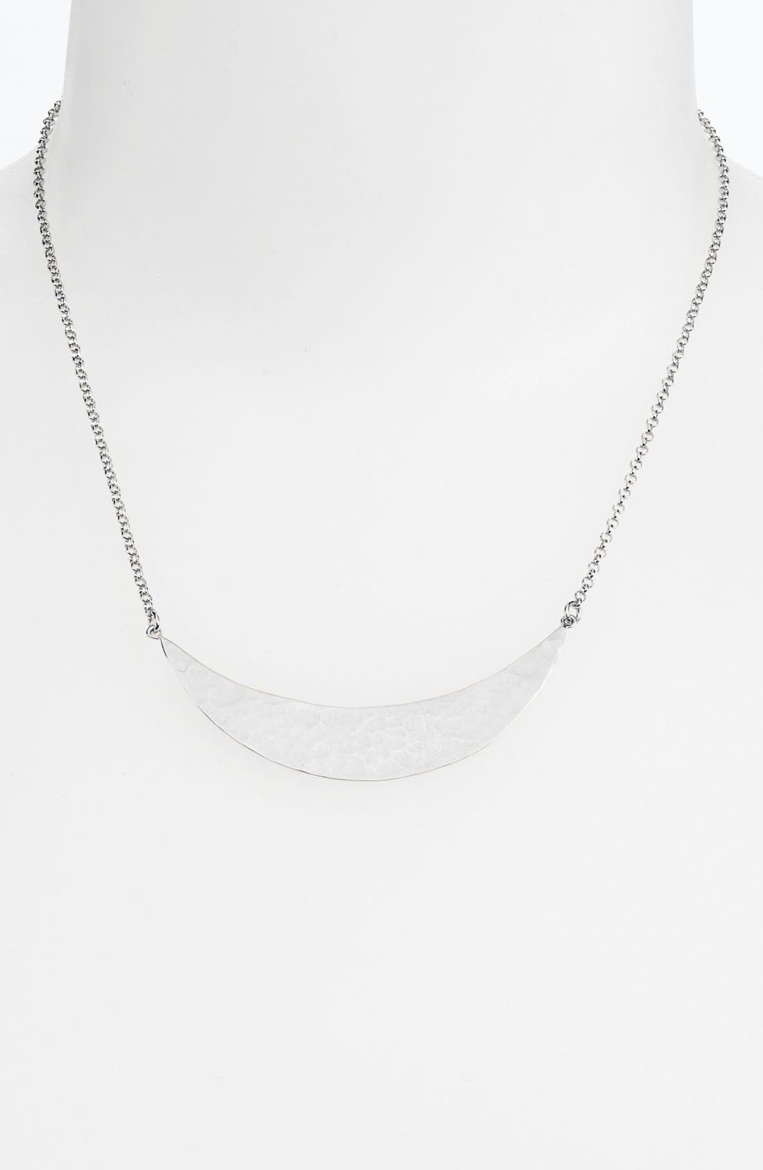 Main Image - Argento Vivo Hammered Crescent Bib Necklace