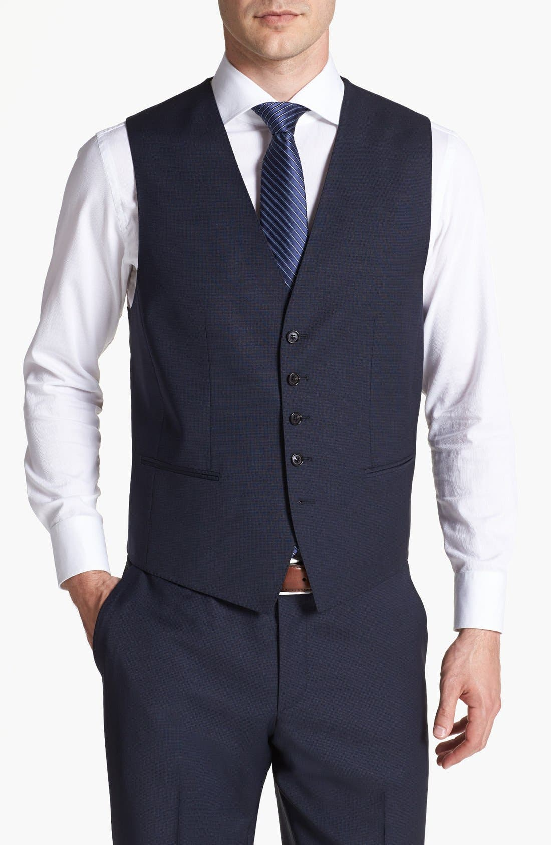Alternate Image 6  - BOSS HUGO BOSS 'James/Sharp' Trim Fit Three-Piece Suit
