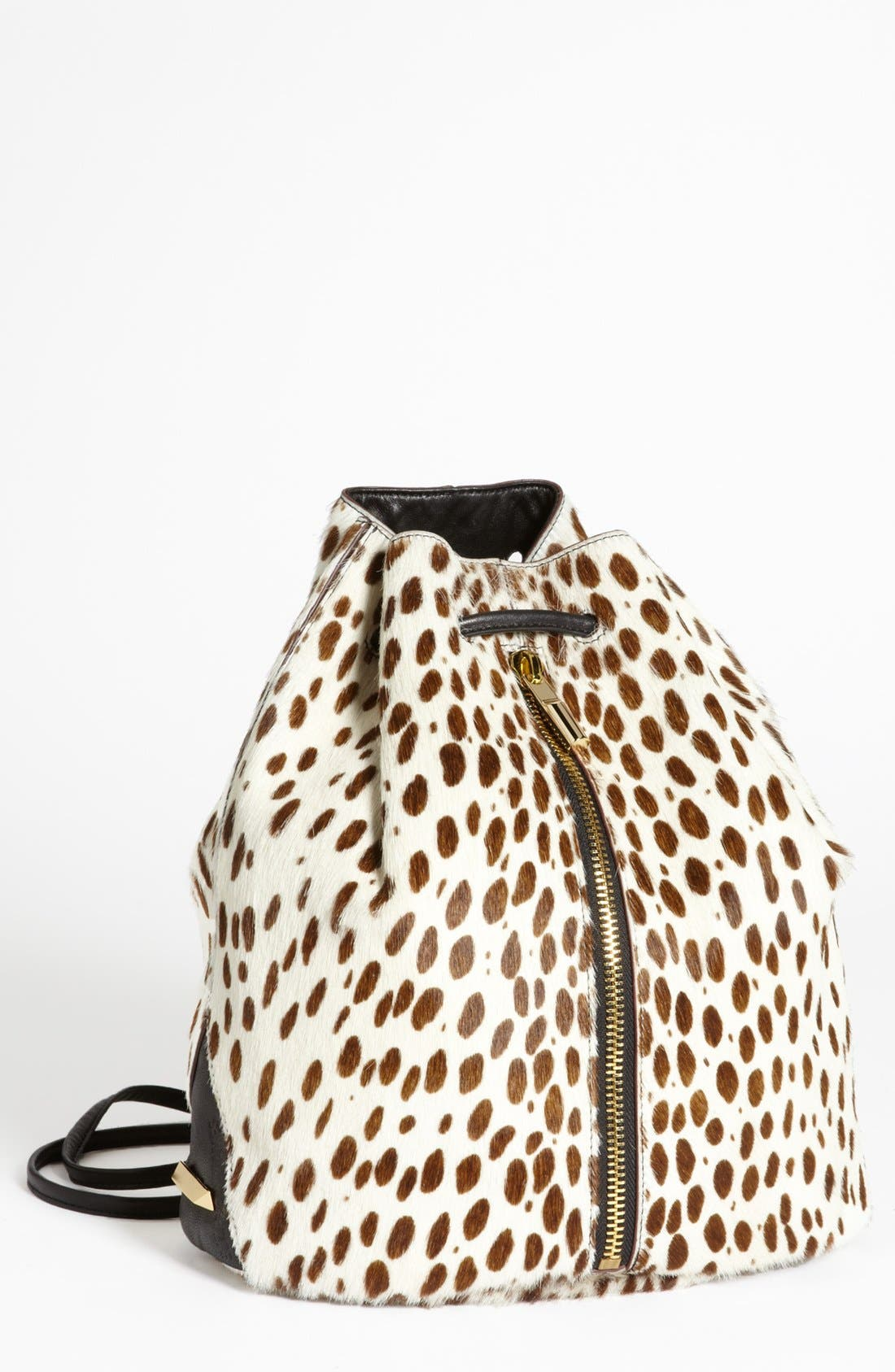 Main Image - Elizabeth and James Spotted Calf Hair Sling Backpack