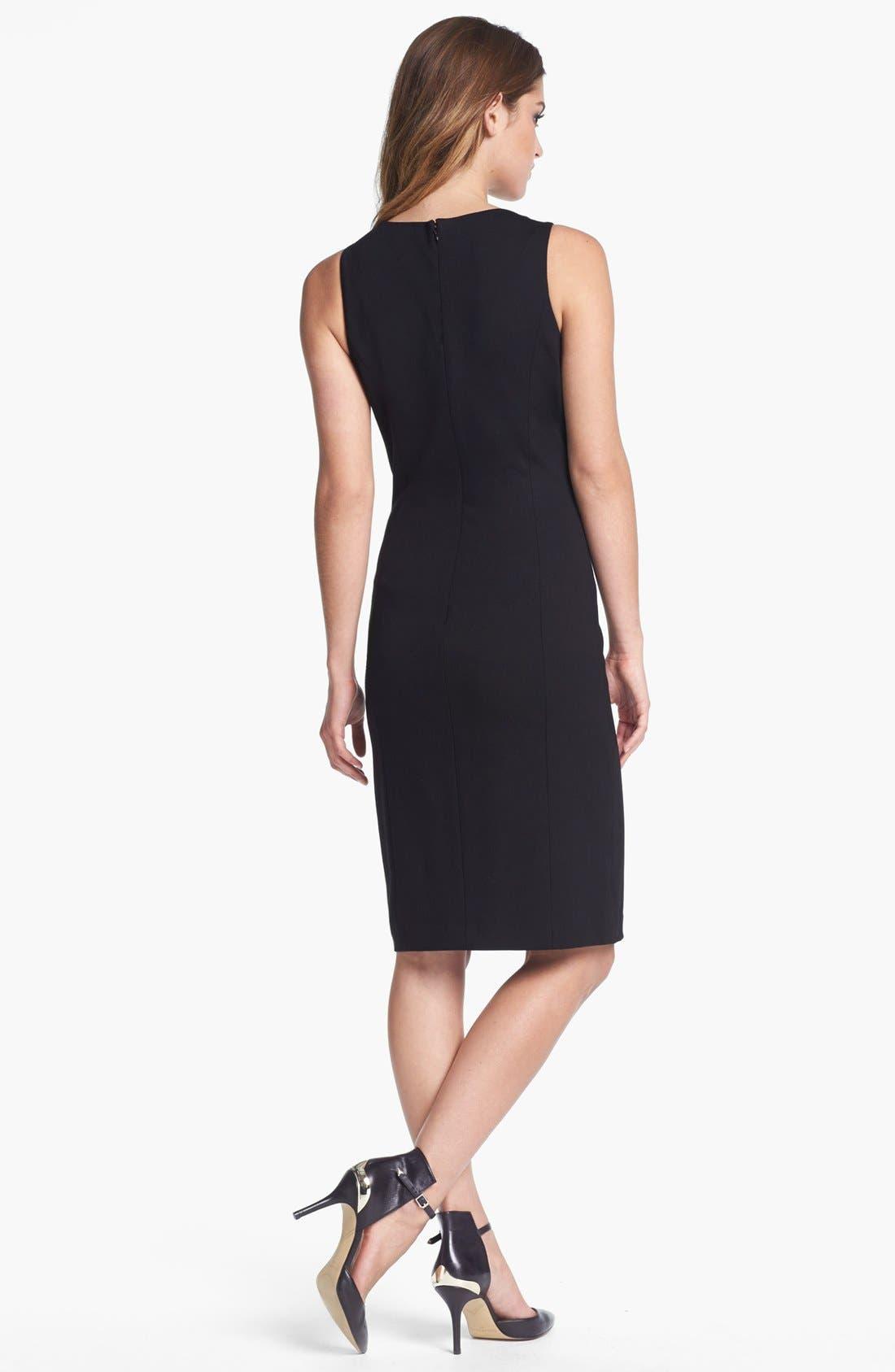 Alternate Image 2  - Vince Camuto Colorblock V-Neck Sheath Dress (Regular & Petite) (Nordstrom Exclusive)